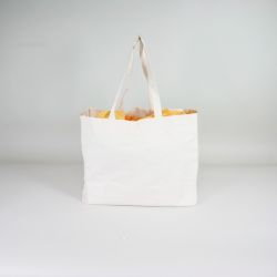Bolsa de algodón reutilizable personalizada 38x10x42 CM | BOLSA DE ALGODÓN | IMPRESIÓN SERIGRÁFICA DE UN LADO EN DOS COLORES