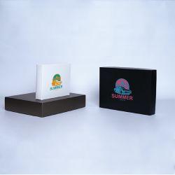 Gepersonaliseerde Gepersonaliseerde doos met deksel Campana 12x12x5,5 CM | CAMPANA | ZEEFBEDRUKKING OP 1 ZIJDE IN 2 KLEUREN