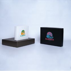 Customized Personalized foldable box Campana 25x20x5 CM | CAMPANA | SCREEN PRINTING ON ONE SIDE IN TWO COLOURS
