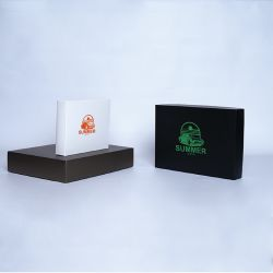 Customized Personalized foldable box Campana 25x20x5 CM | CAMPANA | SCREEN PRINTING ON ONE SIDE IN ONE COLOUR