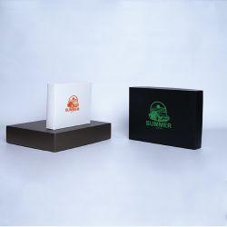 Gepersonaliseerde Gepersonaliseerde doos met deksel Campana 8x8x4 CM | CAMPANA | ZEEFBEDRUKKING OP 1 ZIJDE IN 1 KLEUR
