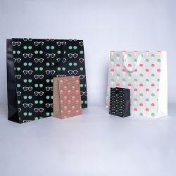 Noblesse personalisierte Papiertüte 25x11x20 cm | NOBLESSE PAPIERTšTE | 4 SEITEN OFFSETDRUCK