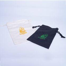 Sacchetti di cotone personalizzata 9x12 CM | SACCHETTO IN TESSUTO | STAMPA SERIGRAFICA SU UN LATO IN UN COLORE