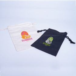 Customized Personalized cotton pouch 13x22,5 CM | COTTON POUCH | SCREEN PRINTING ON ONE SIDE IN TWO COLOURS