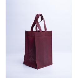 Customized Sac en tissu non tissé personnalisé 28x20x33 CM | NON-WOVEN TNT LUS BOTTLE BAG | SCREEN PRINTING ON ONE SIDE IN TW...