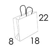 18 x 8 x 22 cm (vordefinierter Bereich 1/2 Farben