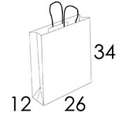 26 x 12 x 34 cm (vordefinierter Bereich 1/2 Farben)