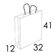 32 x 12 x 41 cm (vordefinierter Bereich 1/2 Farben)
