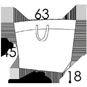 45 x 18 x 45 cm