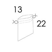 13x22,5 CM