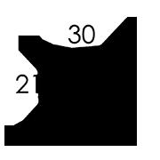 30x21x2 cm (A4+)