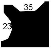35 x 23 x 2 cm