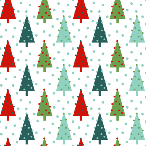Christmas tree pattern for packaging