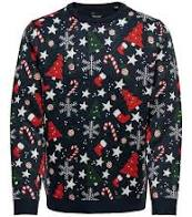 Christmas sweater with typical Christmas pattern