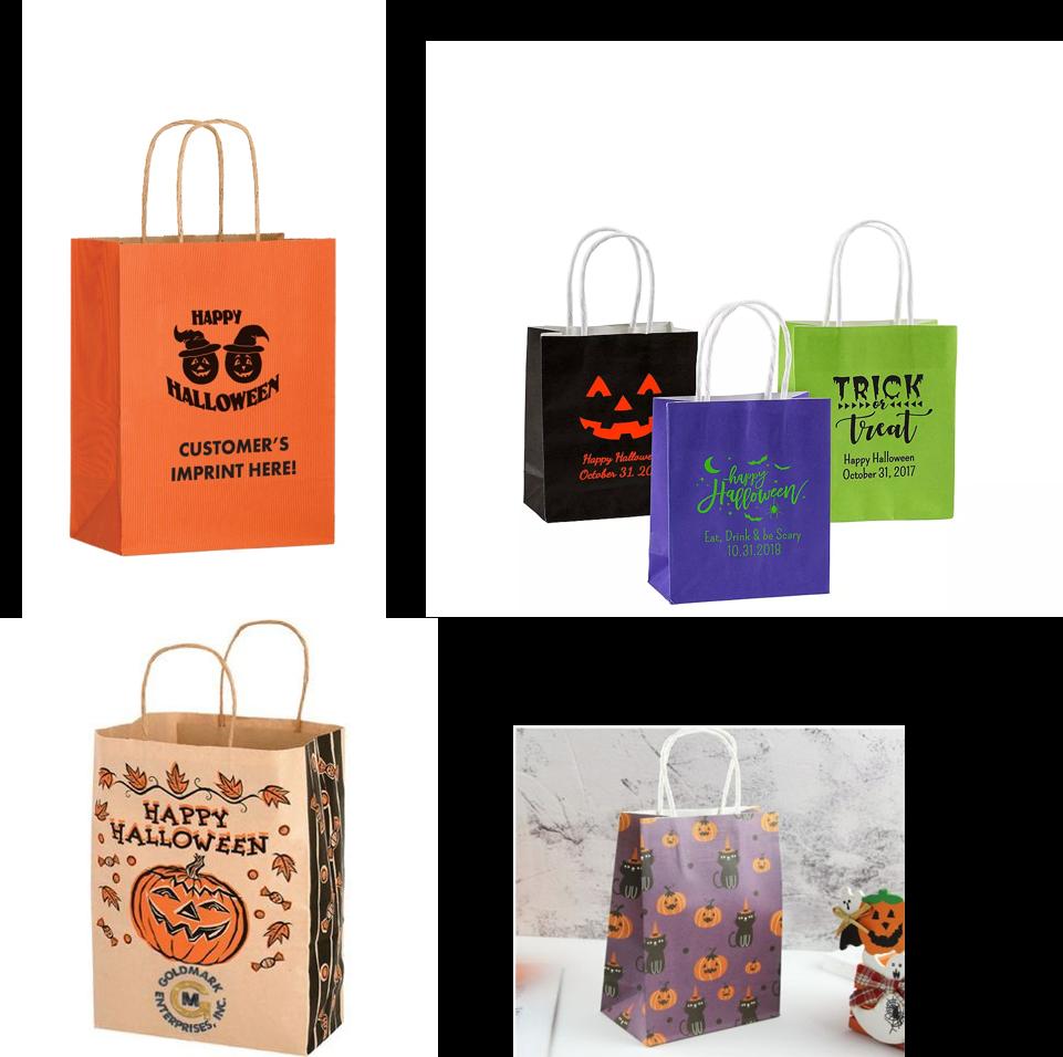 halloween kraft paper bags