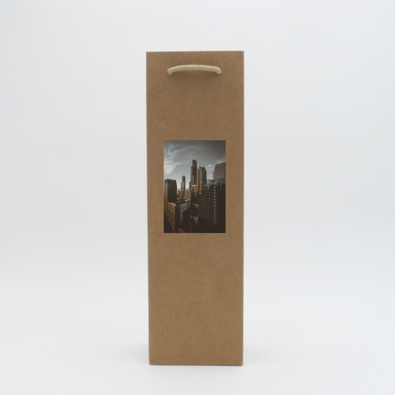 Brown paper kraft bag digital printing
