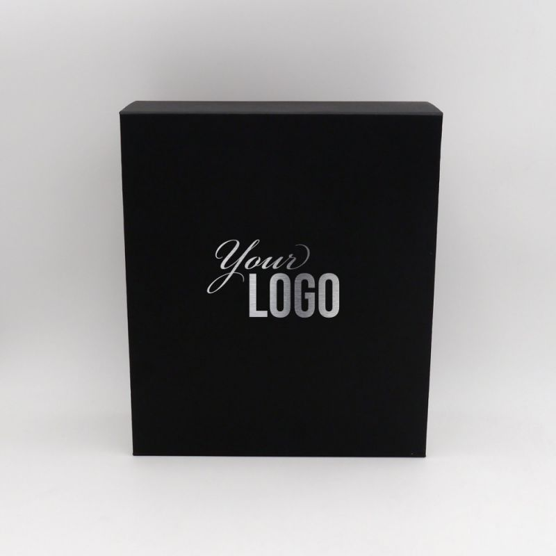Customized magnetic cardboard box with hot foil stamping