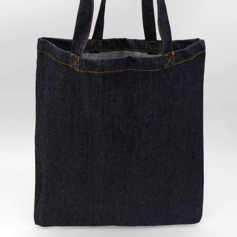 Customizable jeans denim tote bag
