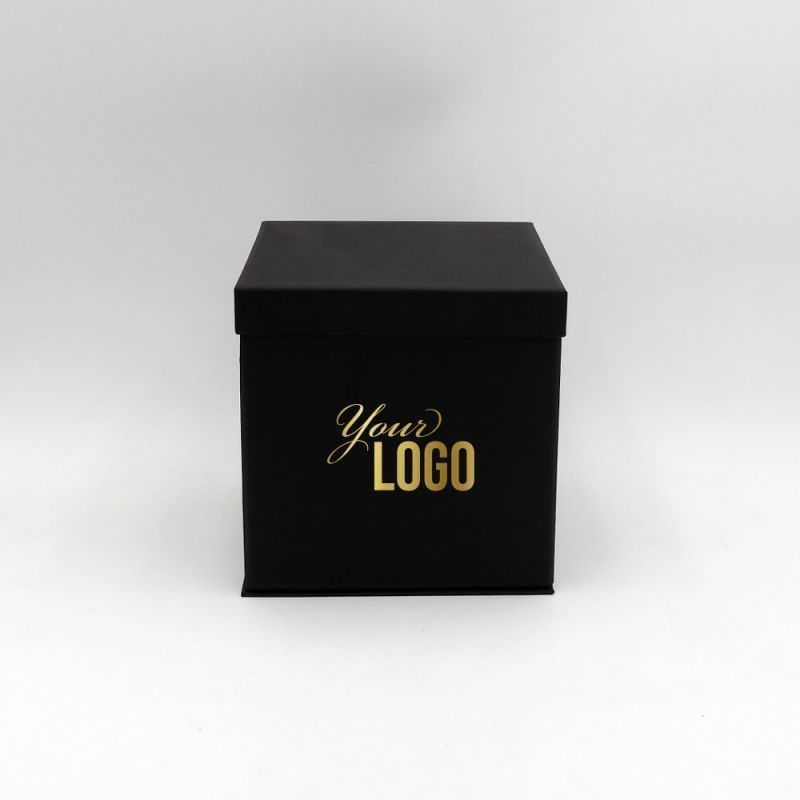 Christmas packaging, Flowerbox with printing of your logo