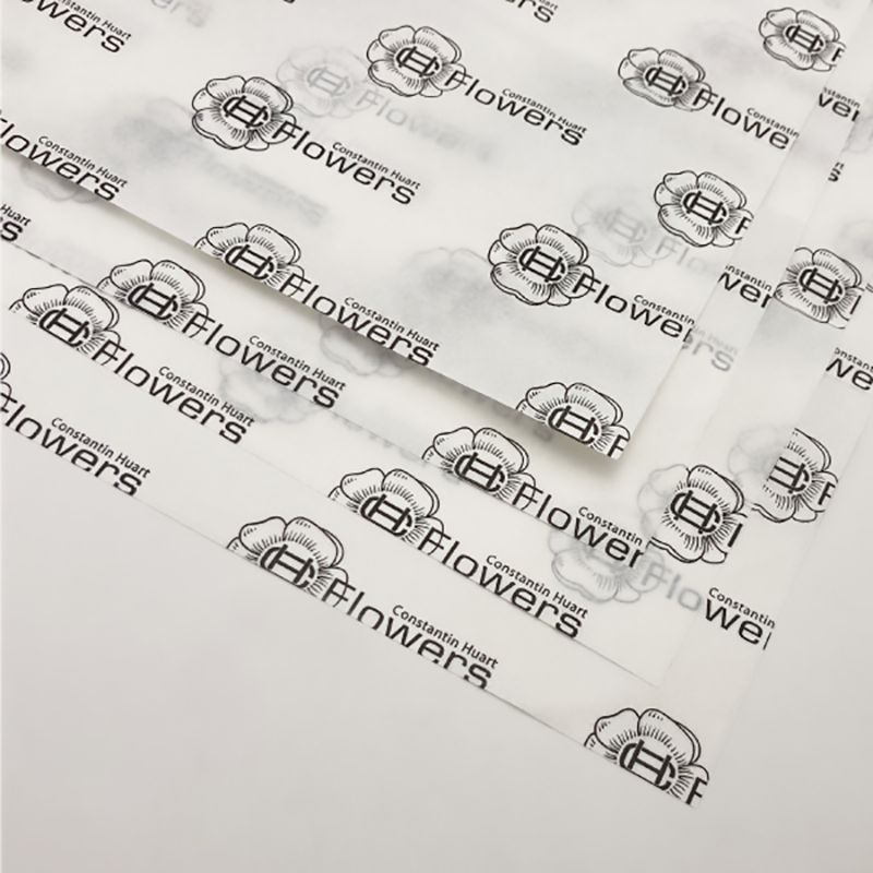 Tissue paper printed with your logo one color black