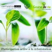 Centurybox est fier d'annoncer son soutien à l'ONG belge @grainedevie.timetoplant en plantant au moins 12 000 arbres par an. Ces arbres permettent de réduire notre impact sur l'environnement, tout en reboisant des zones touchées par la déforestation.#grainedevie #ecologie #packagingcarbonfootprint #reducecarbonfootprint #ecopackaging #centurybox #reforestation #madagascar🇲🇬 #benin #cameroon #togo
